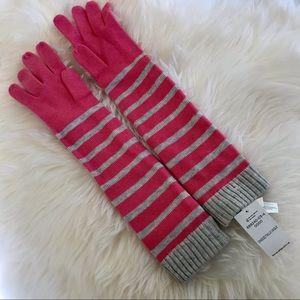 BNWT Banana Republic Gloves. Pink and Gray Onesize